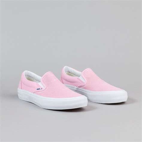 Slip On Shoes Pink vans slip on pro shoes pink white flatspot