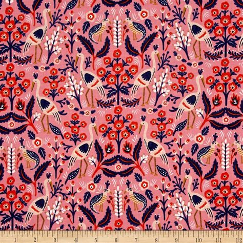 Fabric Paper - cotton steel rifle paper co les fleurs tapestry