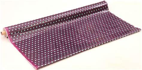 Canvas Laminating Polka Sedang purple echino laminate canvas fabric with light blue polka dots laminates fabric shop modes4u