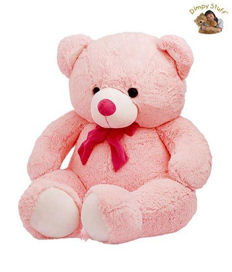 dimpy stuff large pink teddy bear soft toy buy dimpy