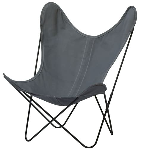 aa butterfly armchair black frame ash grey cover by aa