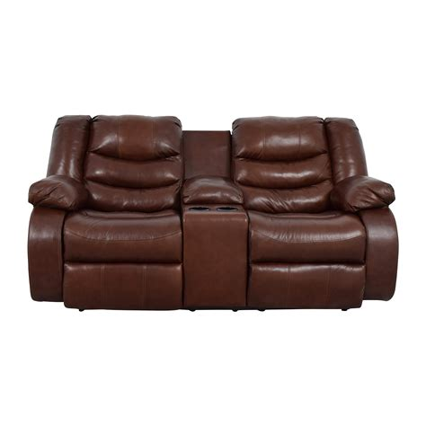 ashley brown leather recliner chairs used chairs for sale
