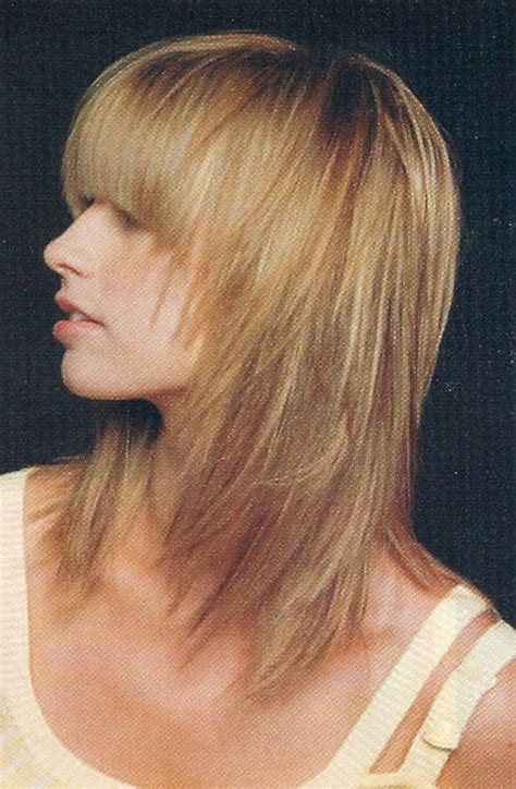blunt bob haircut front view layered hairstyles for medium length hair side view of
