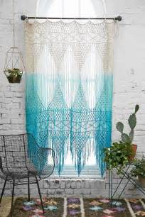 Magical Thinking Curtains Blue Multicolor Ombre Crochet Magical Thinking Safi Wall Hanging Curtains Outfitters