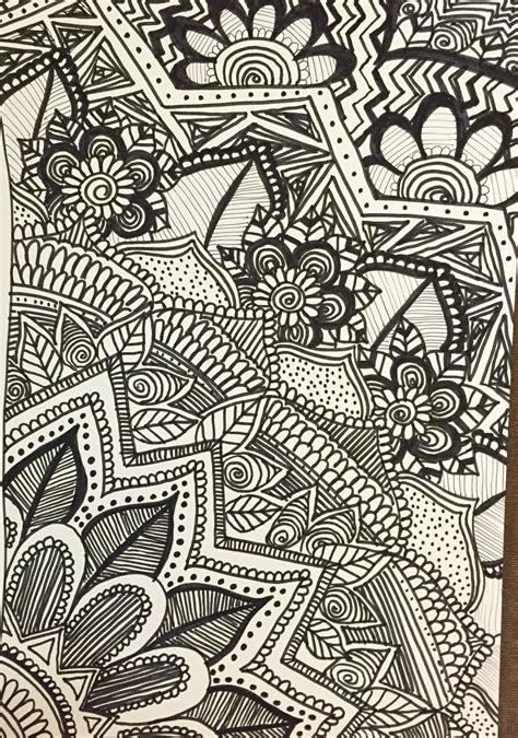 doodle 4 paper doodle zendoodle zentangle permanent marker paper my