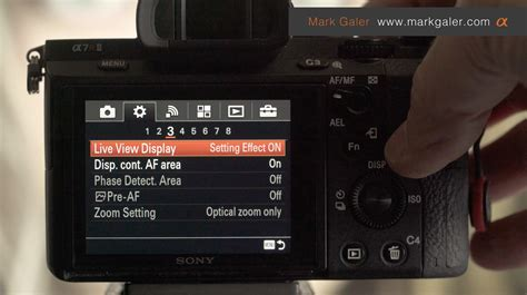 live view live view display setting effect on or galer