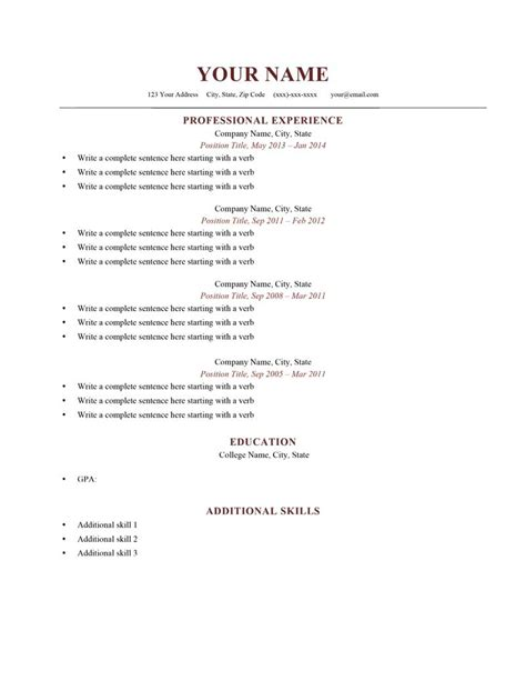 samples of simple resumes 20 resume sample simple de9e2a60f the
