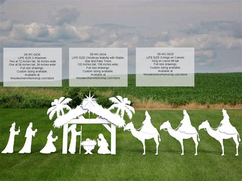 wc   kings  camels life size silhouettes yard