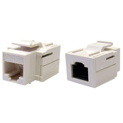 Rj45 Cat5e cat 5e keystone inline coupler white rj45
