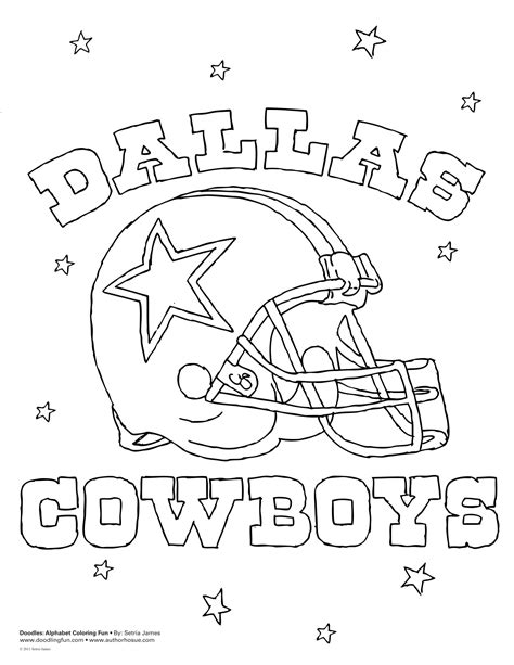 Dallas Cowboys Coloring Pages Dallas Cowboys Coloring Pages
