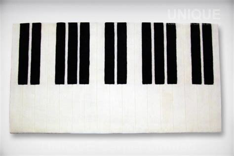 piano keyboard rug black unique carpet limited