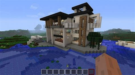 minecraft house boat modern house by the sea boat minecraft project