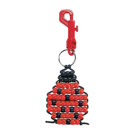 pony bead keychains pony bead ladybug key chain craft kit trading