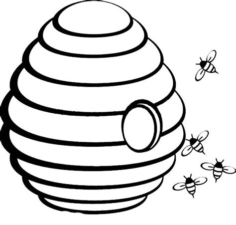beehive outline jos gandos coloring pages for kids
