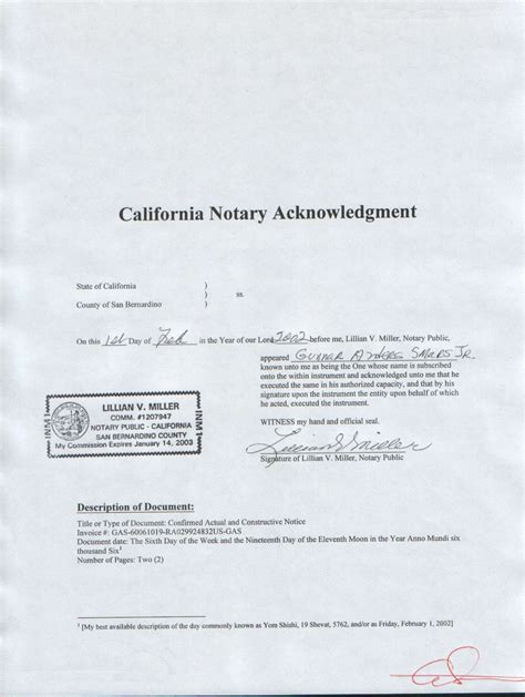 california secretary of state notary public section acknowledgment index