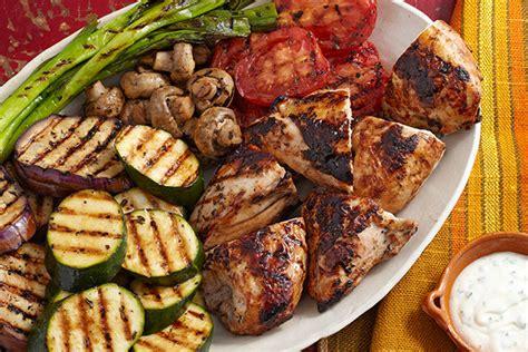 imagenes para wasap de una parrillada pollo con vegetales a la parrilla receta comida kraft