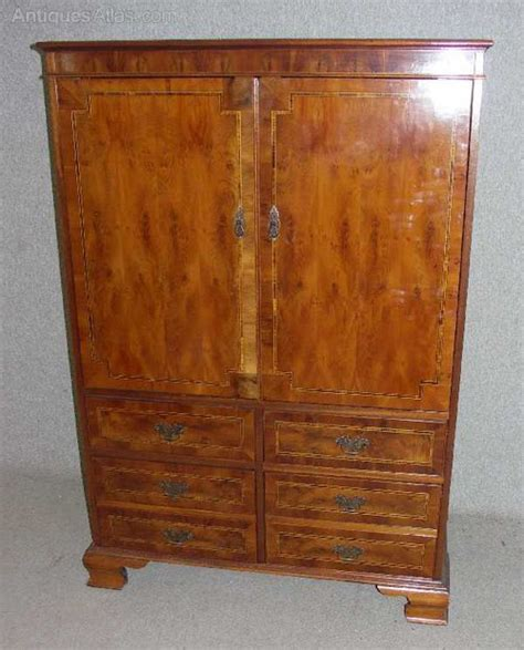 antiques atlas large yew wood cabinet for tv hi fi etc