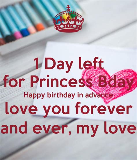 Advance Happy Chop 1 1 day left for princess bday happy birthday in advance