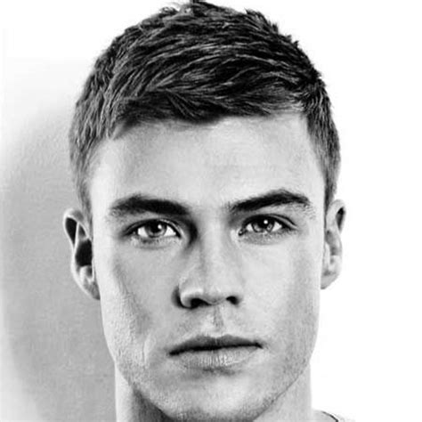 hairstyle for man with long narrow face tapered crew cut long hairstyles