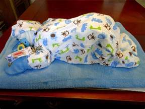 how to make a sleeping baby out of diapers diy