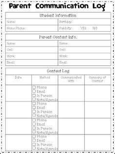 This Form Is Used In A Kindergarten Classroom To Notify Parents Of How Students Behaved Each Day Parent Communication Templates