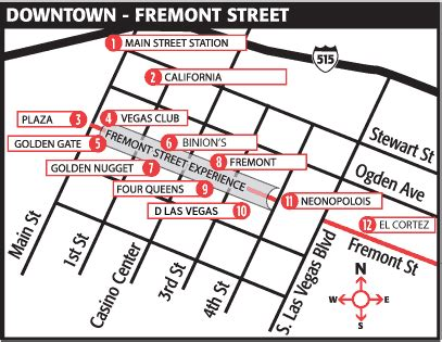 map of downtown las vegas easy to print las vegas maps vegas