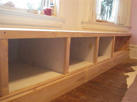 ana white diy breakfast nook with storage diy projects ana white window seat built in diy projects