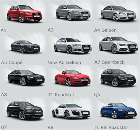 audi guide uk car range design bild