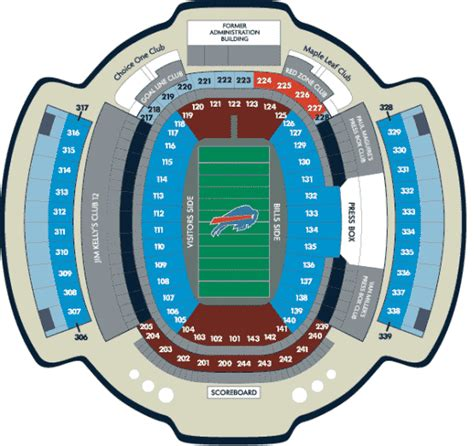 ralph wilson seating chart nfl football stadiums cheap buffalo bills tickets