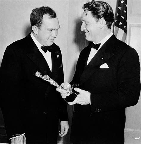 1939 best actor oscar winner thomas mitchell and spencer tracy at the academy awards