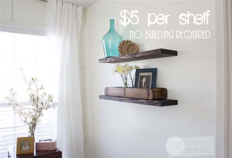 Quick easy amp budget friendly diy floating shelves