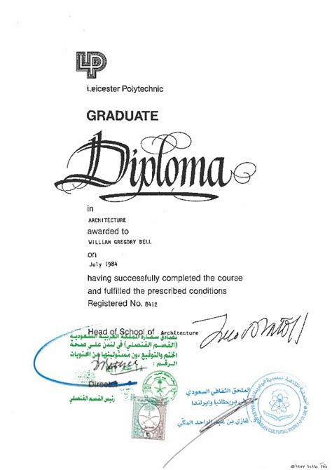 Post Graduate Diploma Vs Mba by W G Bell Attested Post Graduate Diploma Certificate 2 Oct