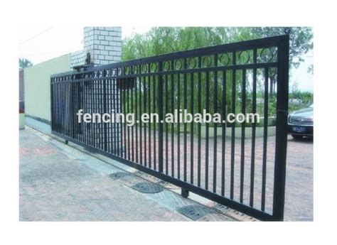 Automatic Iron Swing Gate Design Of Main Gate Factory