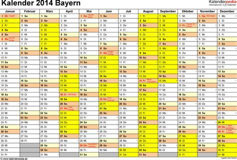 Kalender 2014 Feiertage Kalender 2014 Bayern Ferien Feiertage Excel Vorlagen