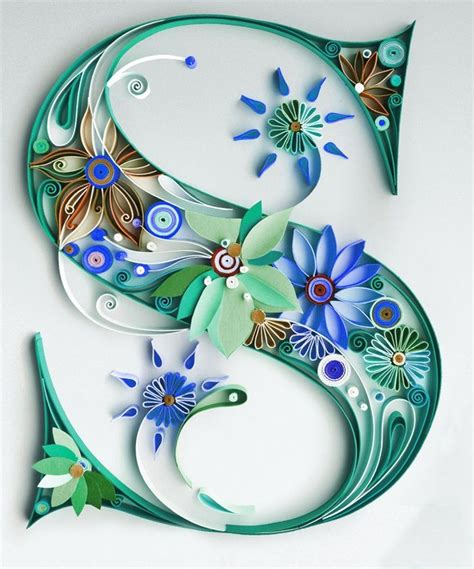 How To Make Paper Quilling Letters - gallery for gt paper quilling letters s etsy inspiration