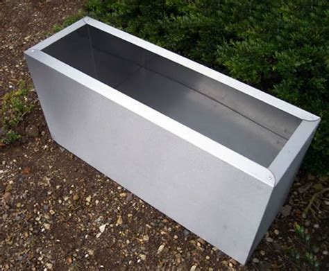 Planters Troughs by Stainless Steel Trough Planters Cedar Nursery Esi