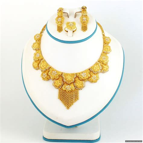 Set Gold Silver 1 gold plated silver necklace set 163 512 00 unclassified indian gold plated silver jewellery