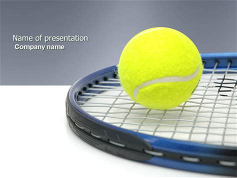 Tennis Ball Presentation Template For Powerpoint And Keynote Ppt Star Tennis Powerpoint Template