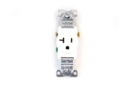 single receptacle outlet white 120 volt 20