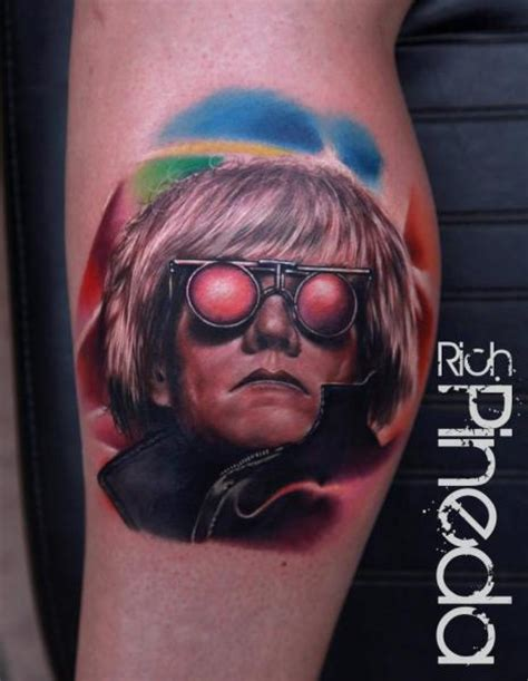 andy warhol tattoo portrait realistic andy warhol by rich pineda