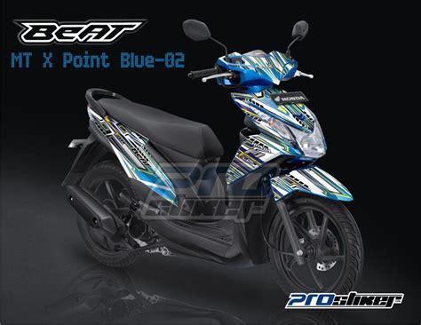 Striping Honda Beat Rockstar Blue stiker striping honda beat fi warna biru prostiker