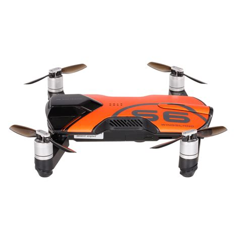 Drone Pocket orange wingsland s6 pocket selfie drone wifi fpv with 4k 13mp hd optical flow gps smart