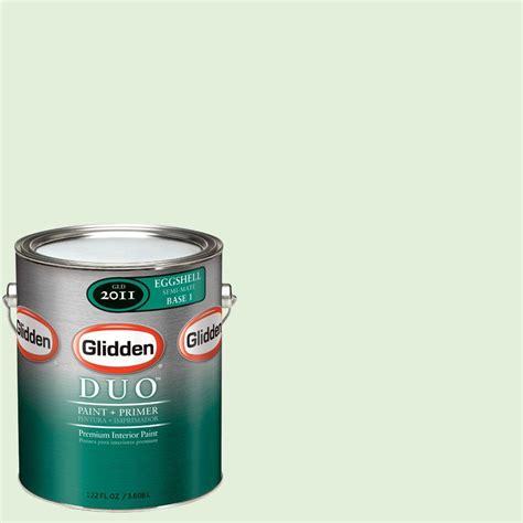 glidden duo 1 gal glg13 soft mint green flat interior paint with primer glg13 01f the home depot