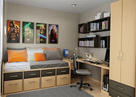 Bedroom Ideas For Teenage Boys Cool Small Bedroom Designs
