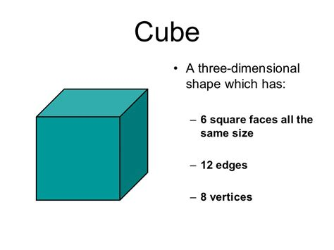 How To Make A 3 Dimensional Cube Out Of Paper - three dimensional shapes 3d ppt