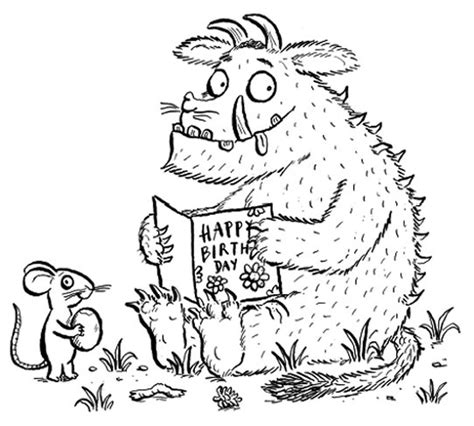 Kids Page Gruffalo Colouring Pages