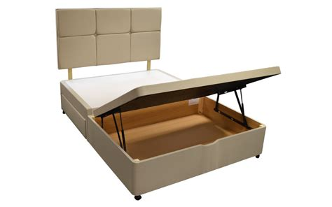 King Size Base With Drawers by Silentnight Sandstone Divan Base King Size Ottoman 2