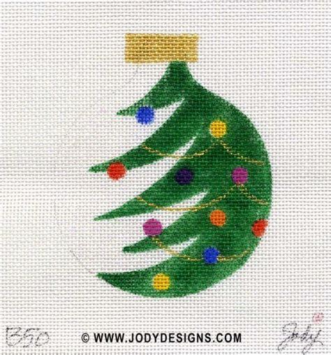 christmas tree needlepoint pattern half christmas tree needlepoint ornament jody designs