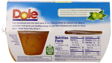 fruit 2 0 nutrition facts dole fruit cups nutrition facts nutrition ftempo