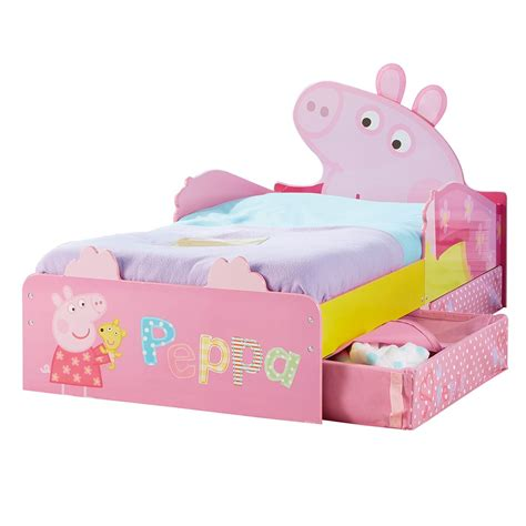peppa pig bed peppa pig mdf toddler bed with storage mattress new